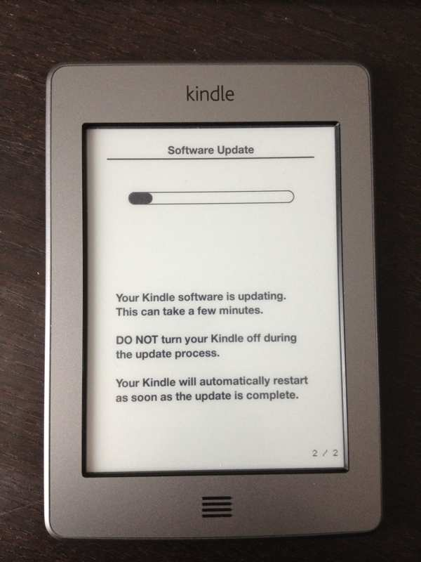 Amazon Kindle Touch Update