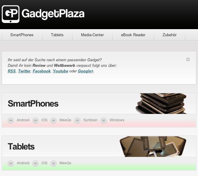 GadgetPlaza ist online - zum Start mit grossem Wettbewerb