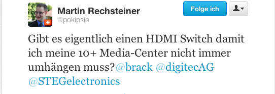 HDMI «Switch» gesucht für meine Media-Centren #FollowerPower