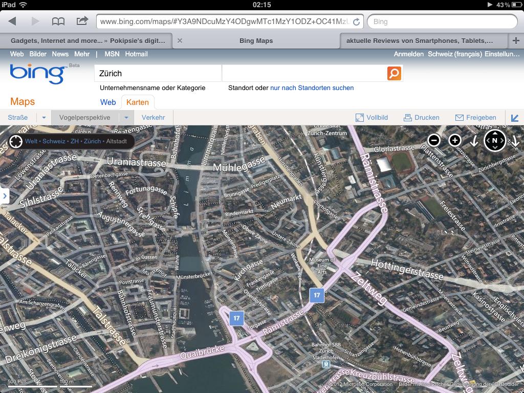 «Bing Maps»165 Terabyte Kartenmaterial Update
