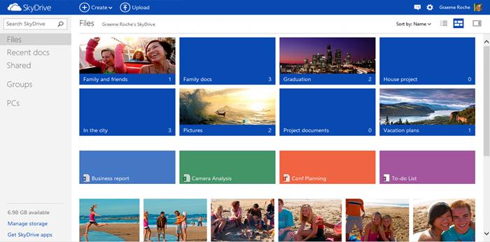 Microsoft neues SkyDrive wird vorgestellt