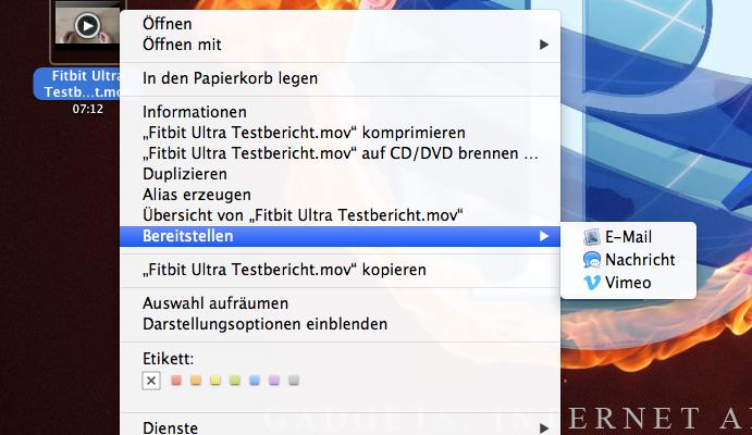 Tutorial Mac - Videmo Upload mit OS X Mountain Lion direkt aus dem Finder