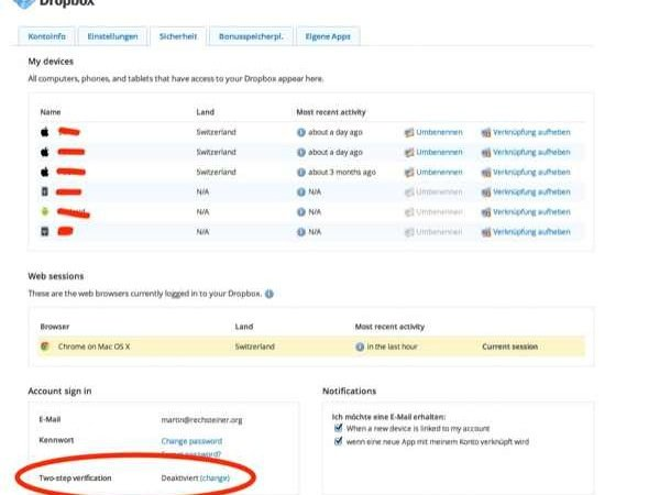 Dropbox - 2-Faktor-Authentifizierung ist jetzt offiziell online