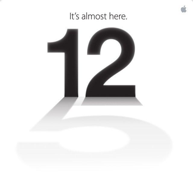 Endlich ist sie da «It's almost here» am 12. September 2012 Einladung von Apple
