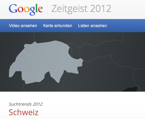 Zeitgeist 2012 - Google Suche Schweiz