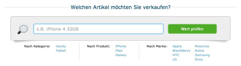 Smartphone oder Tablet zu verkaufen?