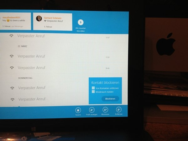 Windows 8 – Skype Kontakte blockieren
