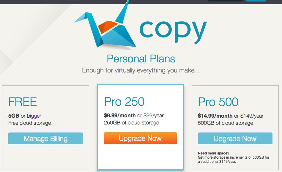 Etwas mehr Cloud für euch «Copy» - zum Start mit extra Speicherplatz für euch