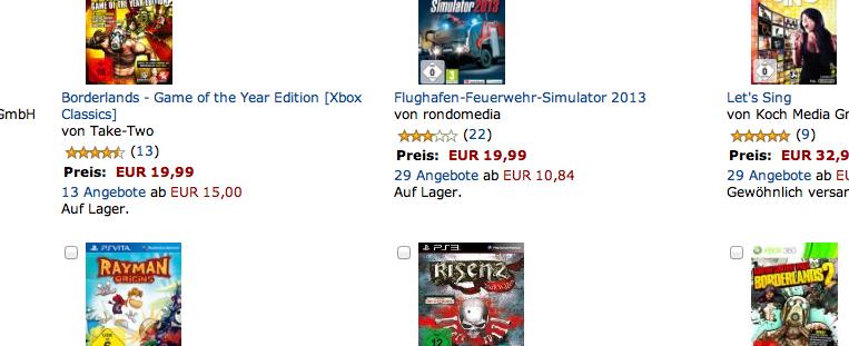 EUR 49.- für 3 XBox Titel – zuschlagen!!!