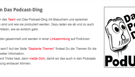 PodUnion - Das Podcast Ding Podcast