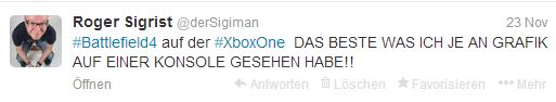 Tweet zu XBox one
