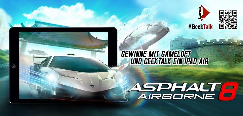iPad Air Gewinnspiel auf dem #GeekTalk Podcast in Kooperation mit Gameloft