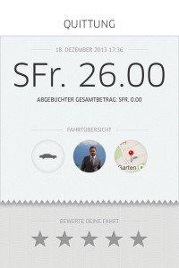 Meine Erfahrungen mit dem «Uber» Dienst - Zürich
