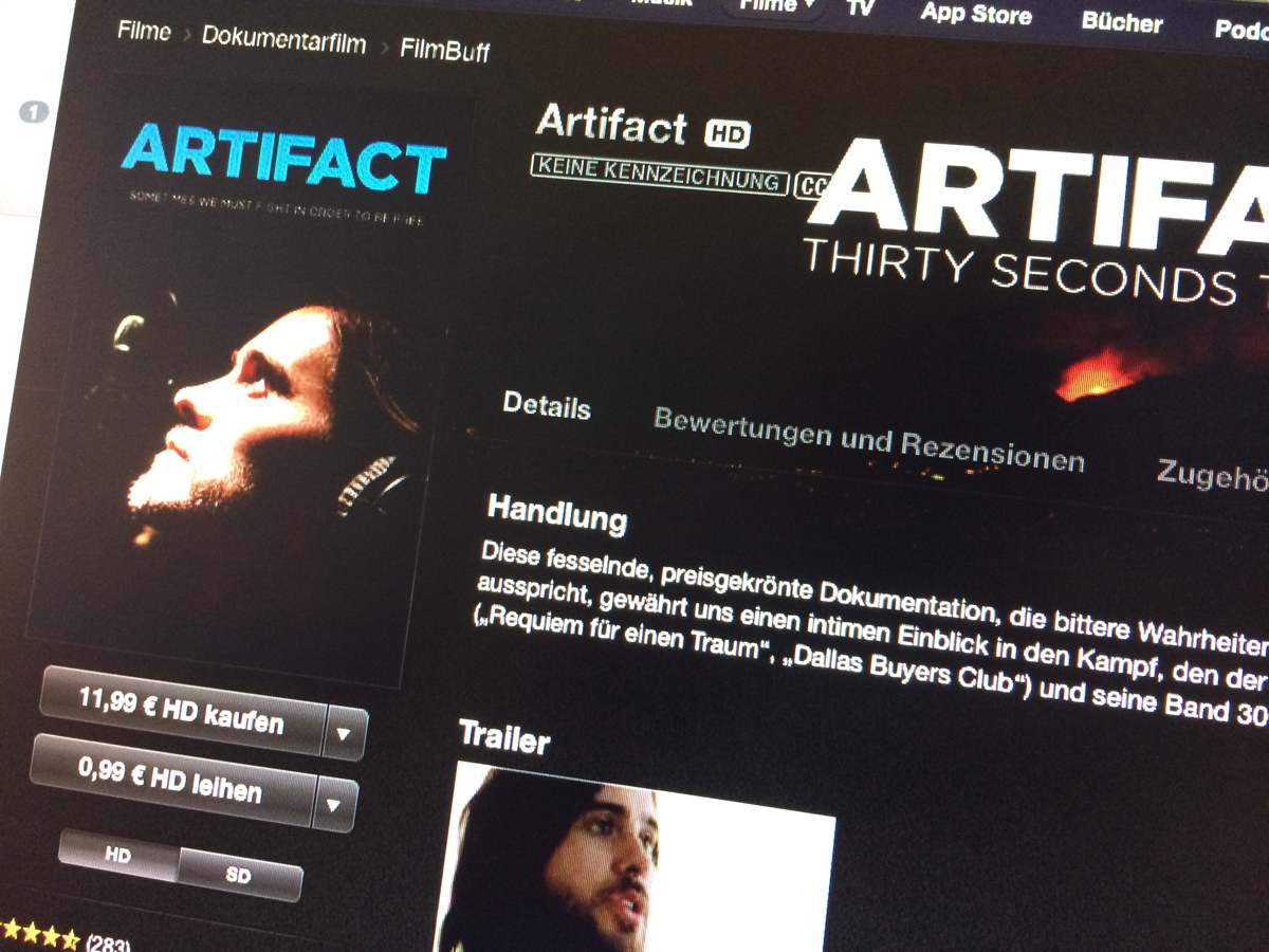 iTS Film der Woche «Artifact - Thirty Seconds to Mars ...