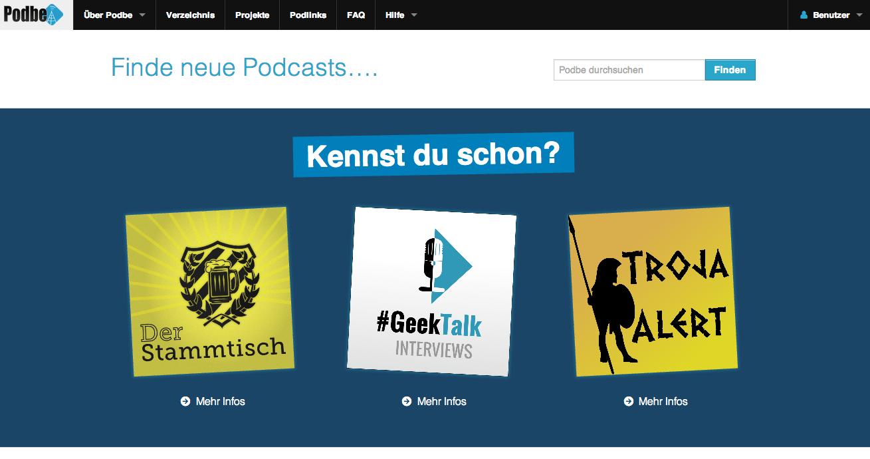 Podbe 2.0 – Das Podcast Verzeichnis bekommt ein Update
