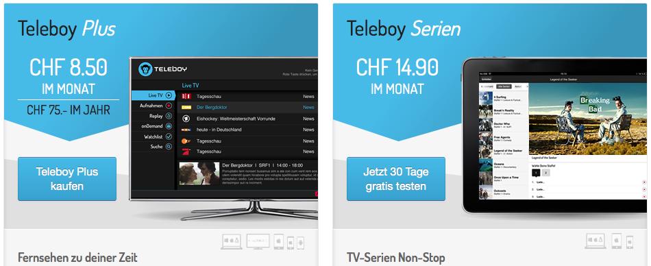 Teleboy App - Plus oder Serien Abo