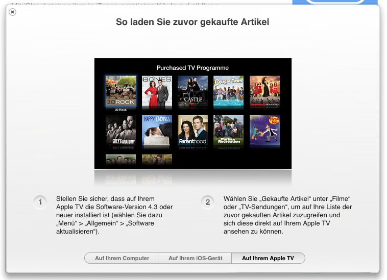 iTunes in der Cloud endlich auch mit TV Serien