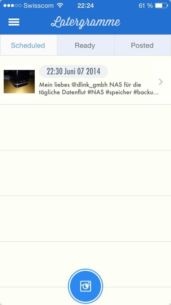 """iOS """"Latergramme"""" Instagram & EyeEm in Zeitversetzt"""