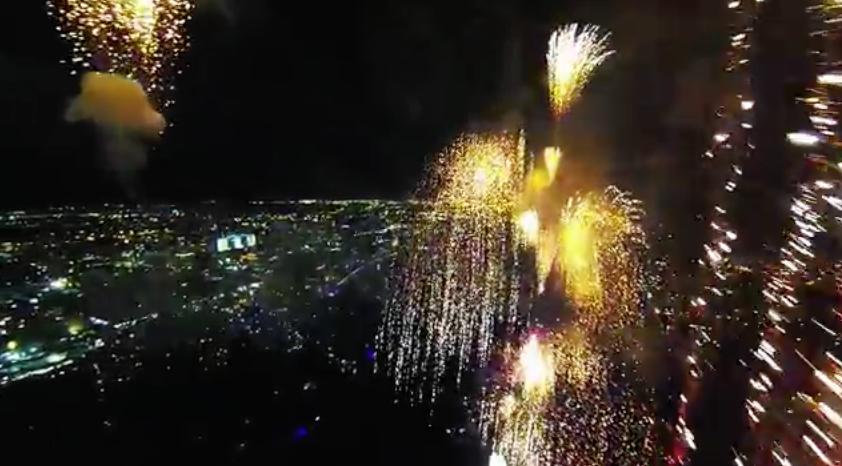 Video – Feuerwerk aus der Vogelperspektive