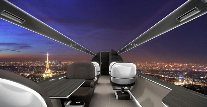 Video – Flugzeug-Konzept ohne Fenster