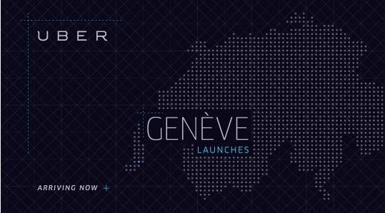 Genf ist die zweite Uber Stadt in der Schweiz