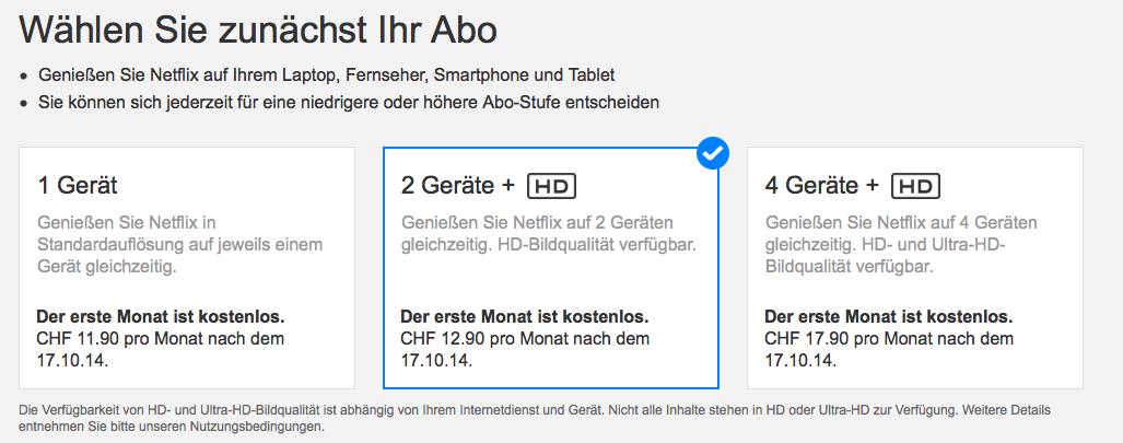 Netflix nun endlich auch in der Schweiz