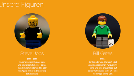 FamousBrick - Steve Jobs und Bill Gates in LEGO