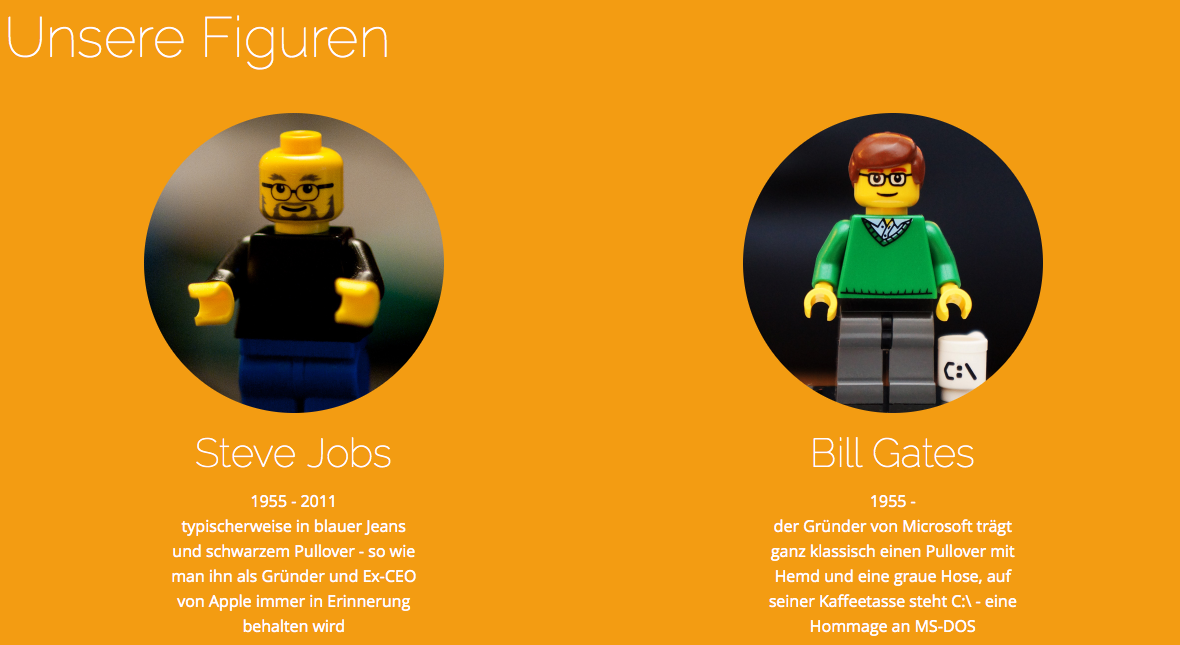 FamousBrick – Steve Jobs und Bill Gates in LEGO