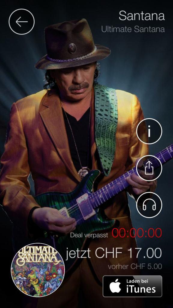 iOS «Album des Tages» täglich Musik günstiger kaufen 3