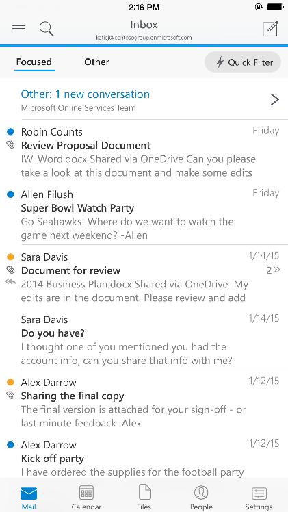 Android/iOS «Outlook»endlich auch erhältlich