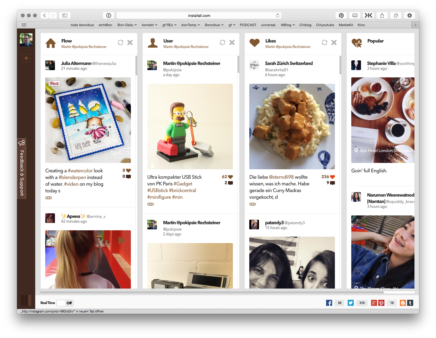 «Instafall» bringt Instagram in den Browser