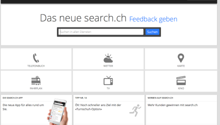 Search.ch - Redesign erreicht nun auch den grossen Browser