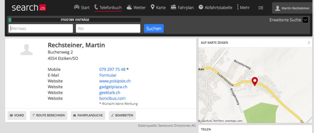 Search.ch - Redesign erreicht nun auch den grossen Browser
