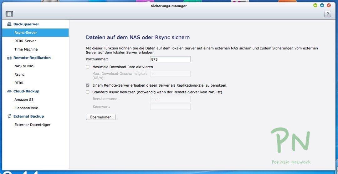Erstkonfiguration des QNAP eigenen Betriebssystems