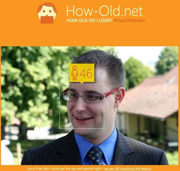 Ja, ich bin alt - How-Old.net