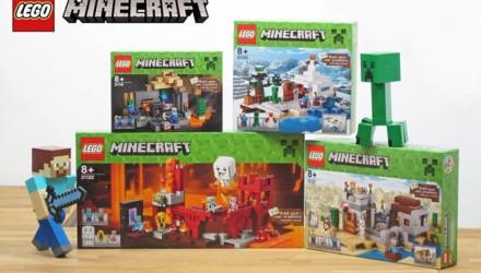 4 neuen LEGO Minecraft Sets