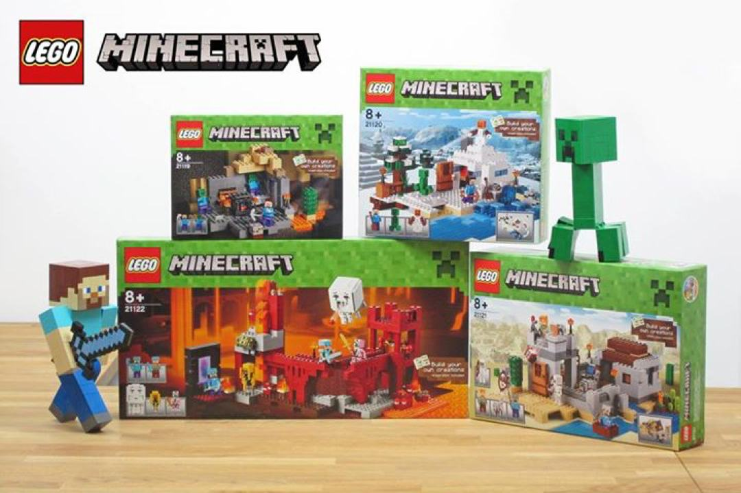4 neuen LEGO Minecraft Sets