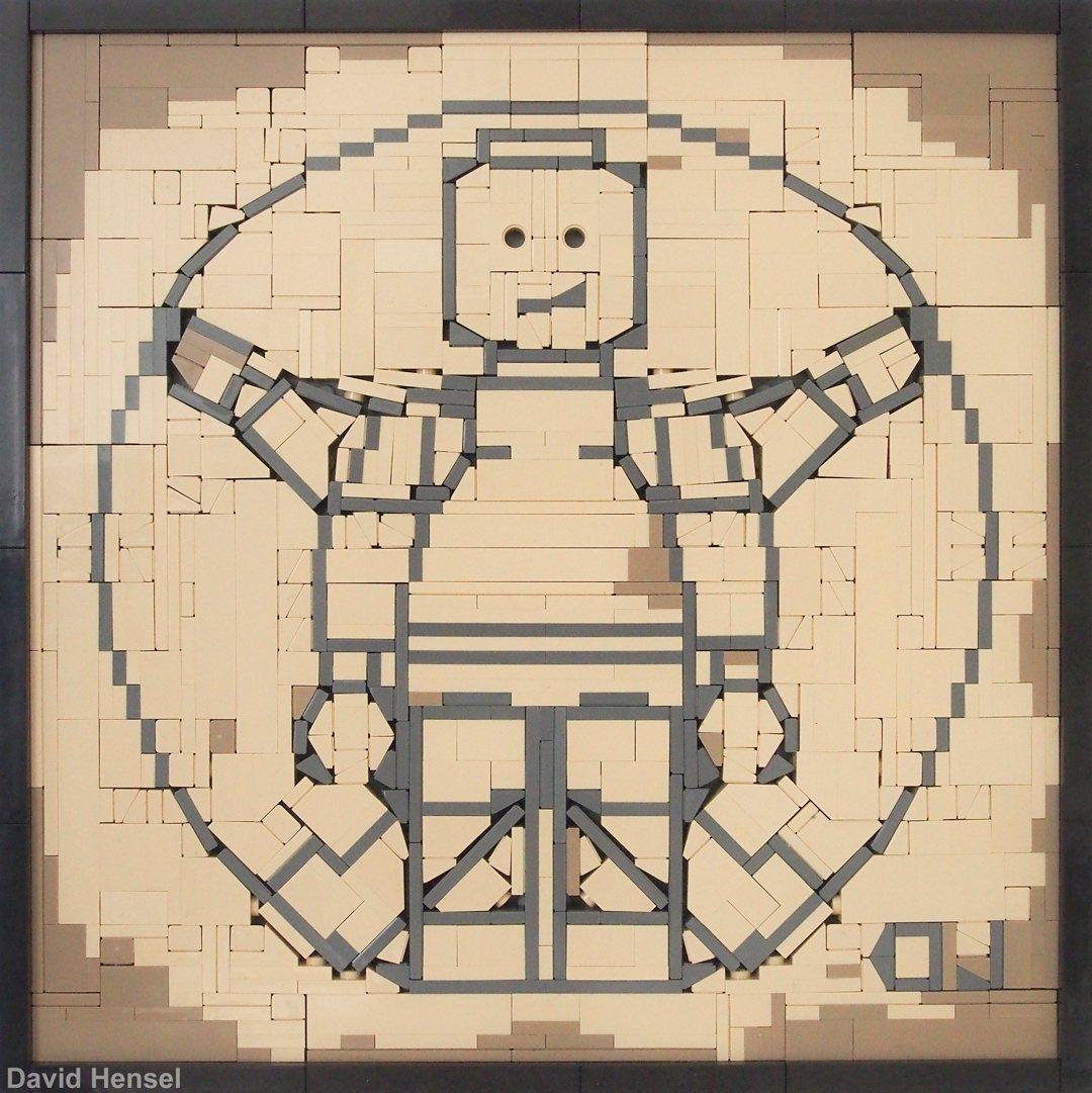 Der vitruvianische Mensch von Leonardo da Vinci in LEGO