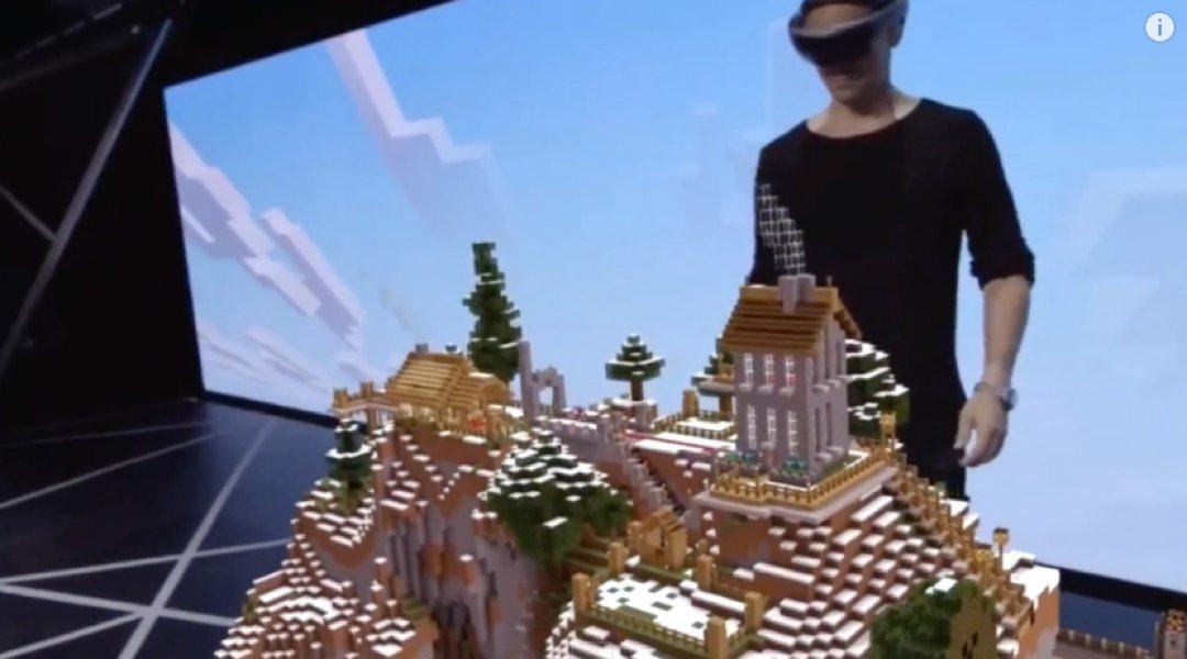 Video – Neue Minecraft Demo mit Hololens Unterstützung