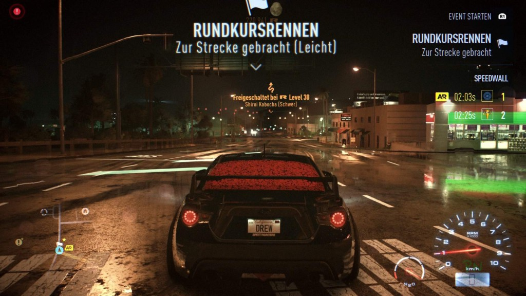 Need for Speed - Umgebung