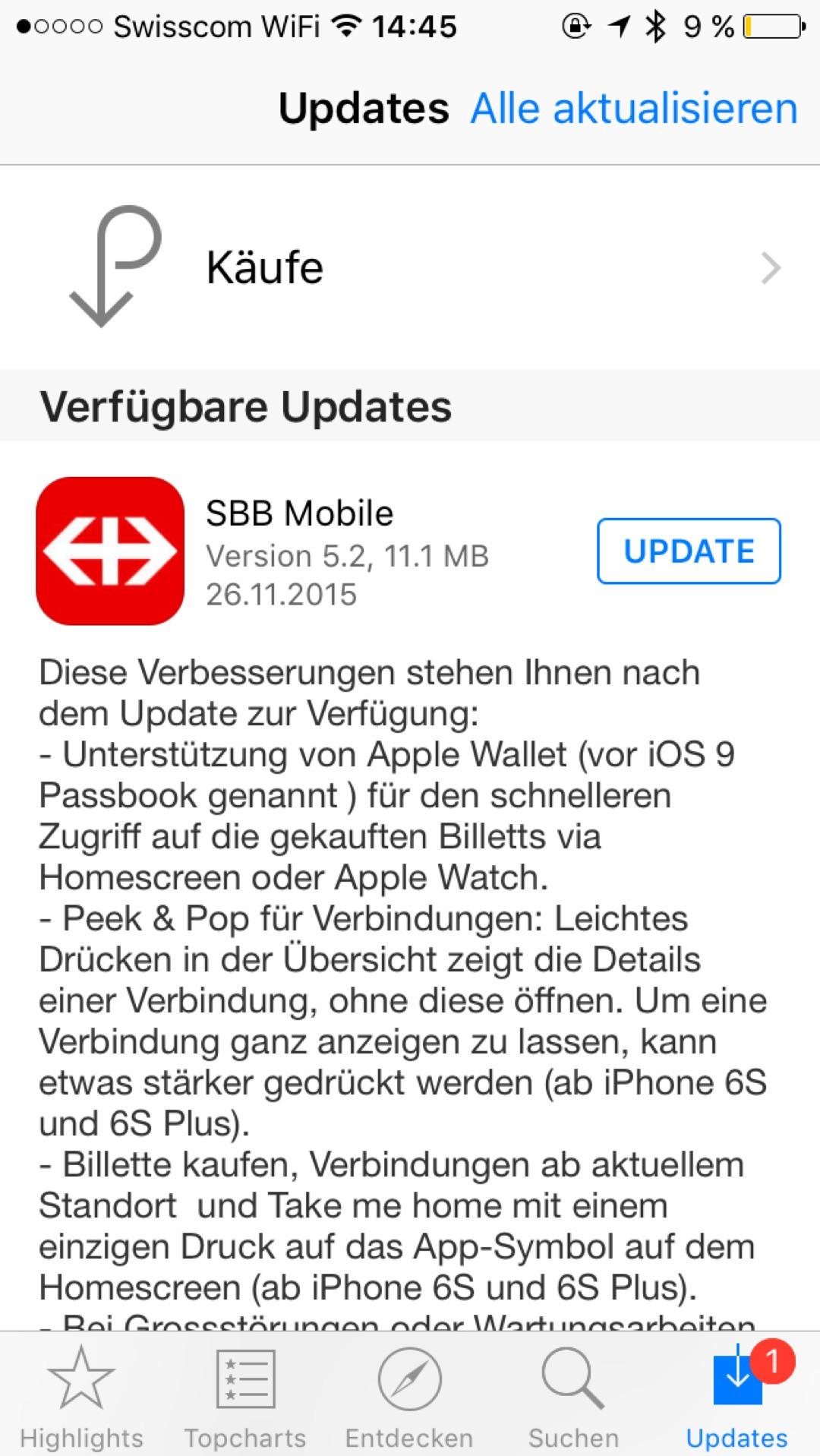 SBB Billett endlich auch in Apple Wallet