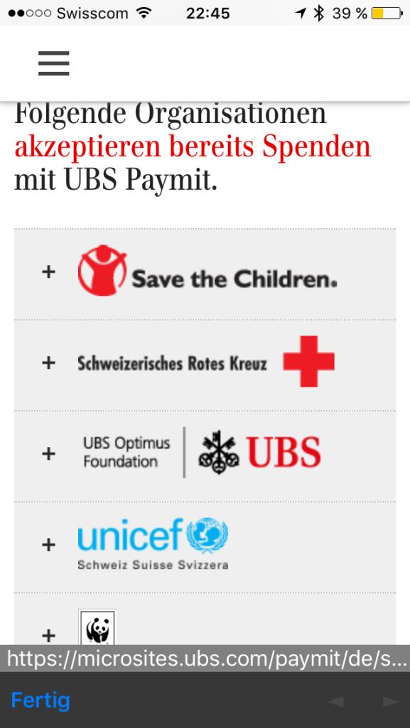 UBS Paymit App