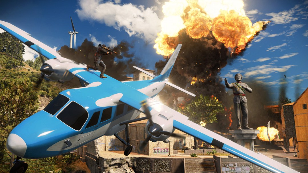 Just Cause 3 - Prolog Flugzeugdach
