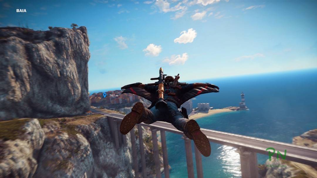 Just Cause 3 - Mit dem Wingsuit unterwegs