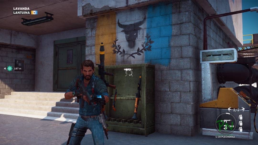 Just Cause 3 - Eingenommene Festung mit Rebellen Flagge