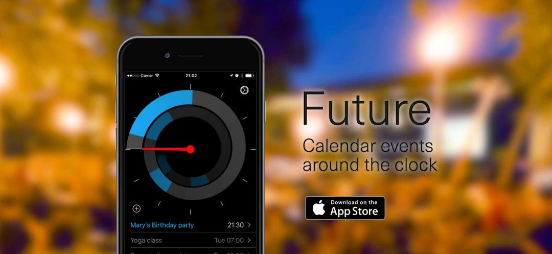 Future – Kalender Einträge im Kreisformat