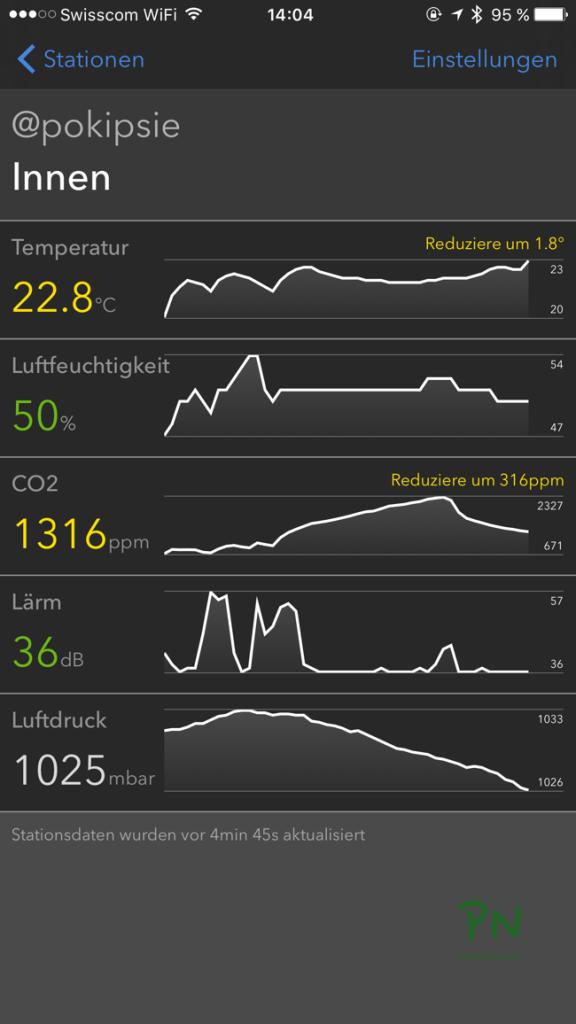 Mit Comfort App Netatmo Daten auf die Apple Watch