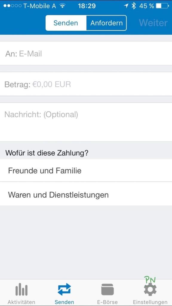 Paypal App im Test