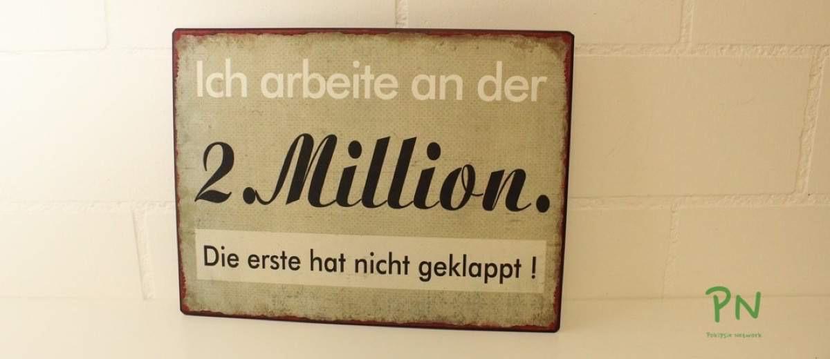 Blechschildershop.ch - Ich arbeite an der 2. Million