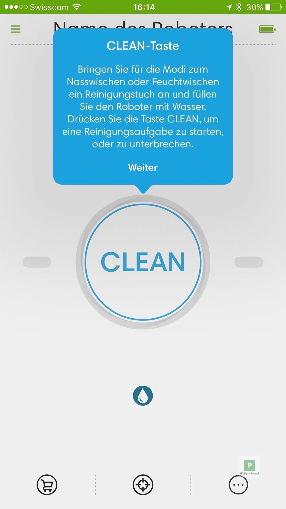 Anleitung zum Konfigurieren - Clean einschalt- und Start-Taste